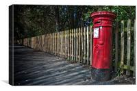 British post box, Canvas Print