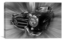 Vintage 2 seater Merc, Canvas Print
