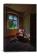 Window sofa door, Canvas Print