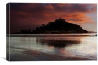 Saint Michael's Mount, Cornwall, at sunset