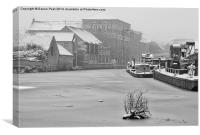 River Trent frozen, Newark, Nottinghamshire