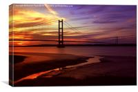 Humber Bridge, Sunset