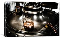 Copper kettle resting on a Steam pump, Papplewick