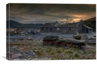 Slate end, Canvas Print