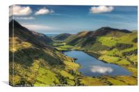 Tal y llyn reflection, Canvas Print