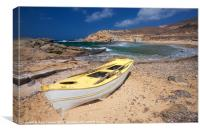 Ftelia bay rowing boat, Canvas Print
