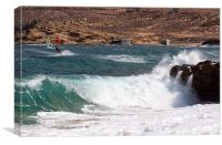 Big waves at mykonos, Canvas Print