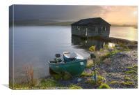 Trawsfynydd boat house, Canvas Print
