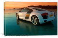 R8 on the beach 2, Canvas Print