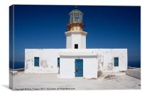 Greek lighthouse, Canvas Print