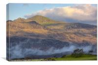 Moelwyn Mawr and Stwlan dam, Canvas Print