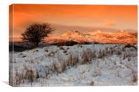 Moelwyn dawn, Canvas Print
