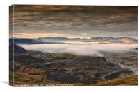 Llechwedd Slate mine, Canvas Print