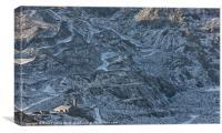 Welsh slate quarry, Canvas Print