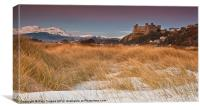 Snow on Harlech beach, Canvas Print