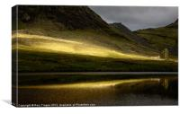 Cwmorthin sunburst, Canvas Print