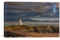 Llanddwyn beacon, Canvas Print