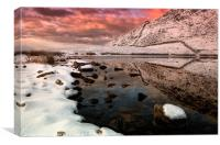 Llyn Manod and Manod bach, Canvas Print