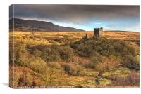 Dolwyddelan castle and Moel Siabod, Canvas Print