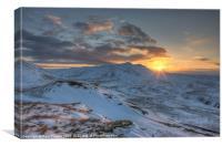 Moel Farlwyd sunrise, Canvas Print