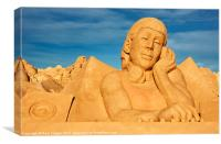 Sand operator, Canvas Print