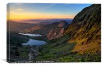 Y Lliwedd sunrise, Canvas Print