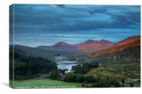 Capel Curig and Snowdon, Canvas Print