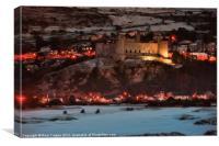 Harlech castle winter 2010, Canvas Print