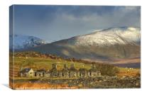 Quarrymans cottages, Canvas Print