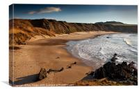 Whistling sands, Canvas Print