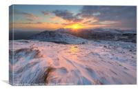 Manod sunset wide angle, Canvas Print
