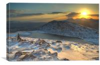 Ice on Manod Mawr, Canvas Print