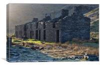 Rhosydd terrace, Canvas Print