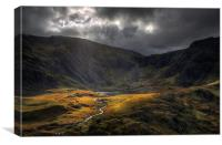 The river from Llyn Idwal, Canvas Print