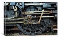 Mechanical links, Canvas Print
