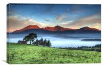 Moelwyn sunrise, Canvas Print
