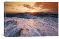 Snowdonia sunset, Canvas Print