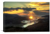 Mawddach sunset, Canvas Print