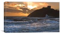 Storm at Criccieth, Canvas Print