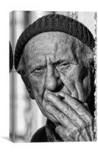 Man having a cigarette, Canvas Print