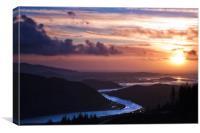 Afon Dwyryd, Canvas Print
