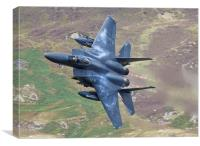F15 Eagle with Afterburners, Canvas Print