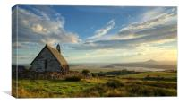 Llandecwyn church, Canvas Print