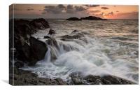 Llanddwyn waves, Canvas Print