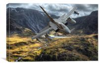 Raf Tornado in the Ogwen valley, Canvas Print