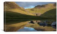 Reflection at Cwmorthin, Canvas Print