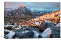 Sunrise in the Ogwen valley, Canvas Print