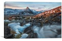 Dawn in the Ogwen valley, Canvas Print