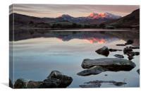 Snowdon sunrise, Canvas Print