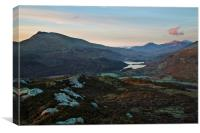 Snowdon from Capel Curig, Canvas Print